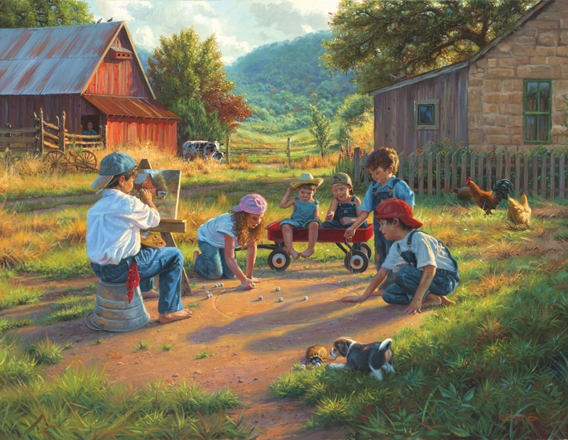 The Art of Young Farm Jigsaw Puzzle