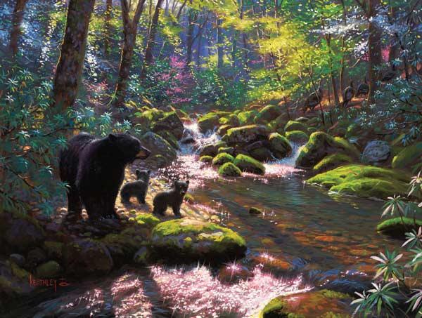 Mountain Awakening Bears Jigsaw Puzzle