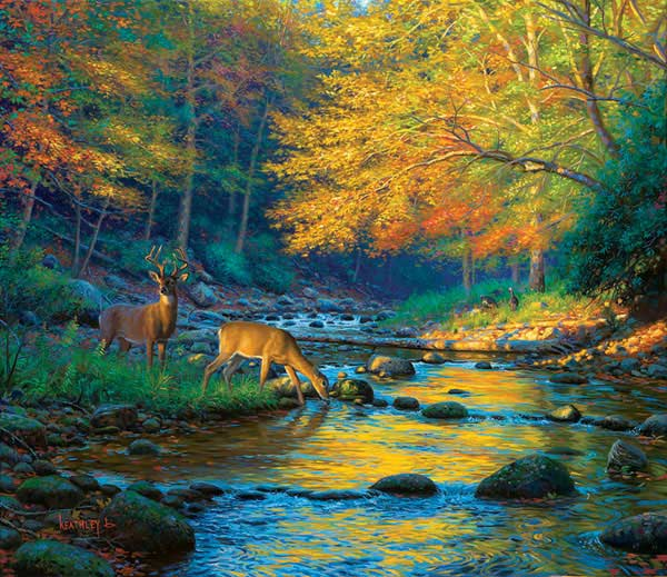 Quiet Encounter Fall Jigsaw Puzzle