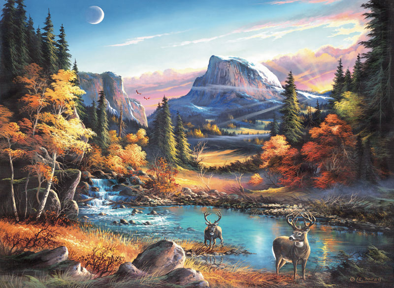 Mountain Morning Mountains Jigsaw Puzzle