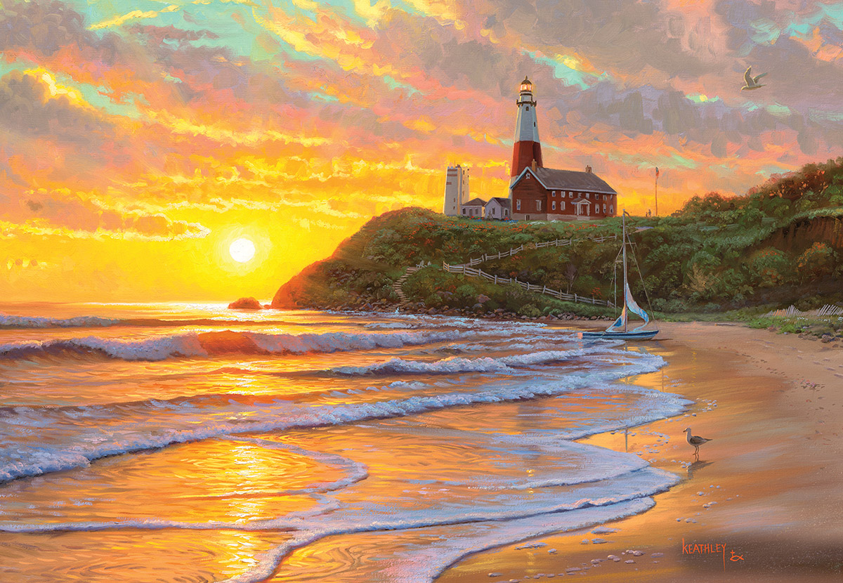 Perfect Day Lighthouses Jigsaw Puzzle