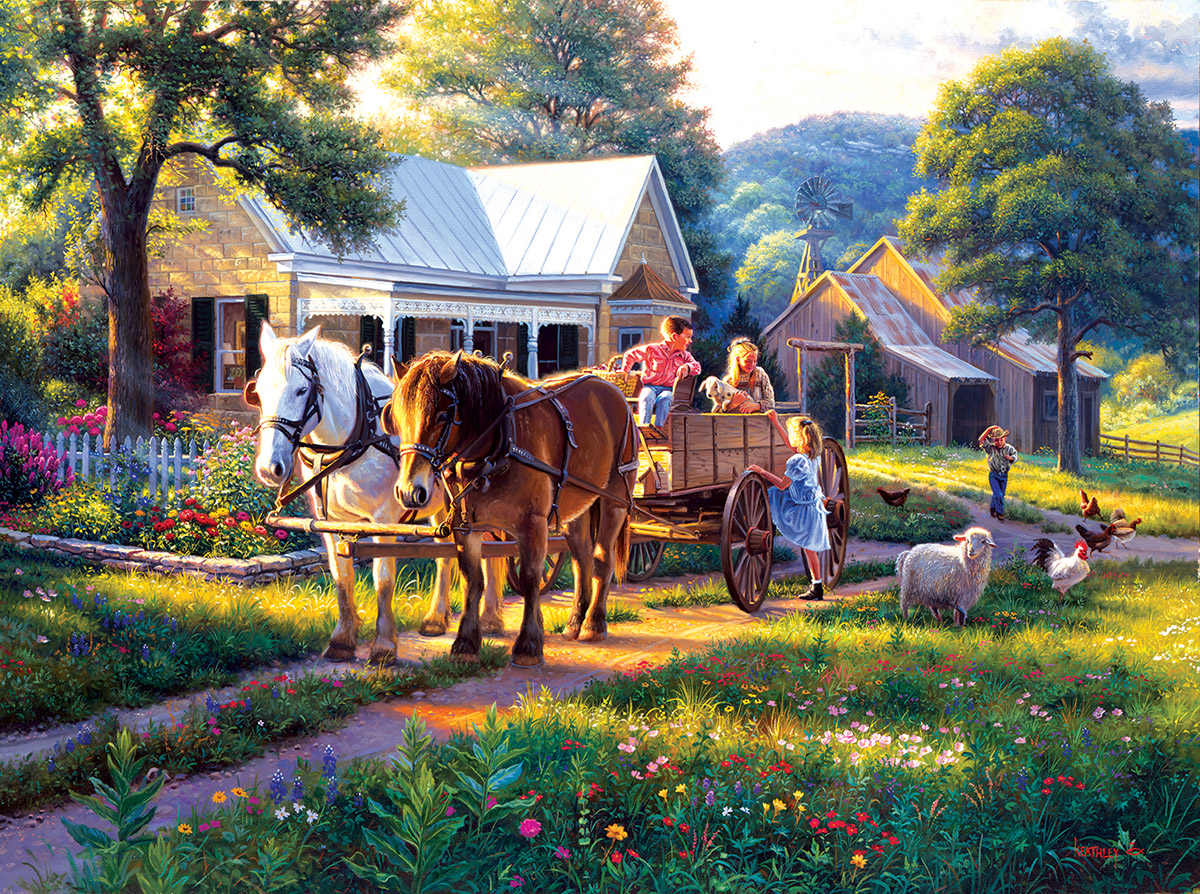 Day at the Fair - Scratch and Dent Countryside Jigsaw Puzzle
