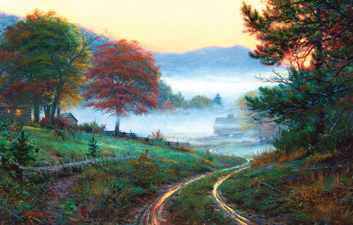 Morning at Cades Cove Countryside Jigsaw Puzzle
