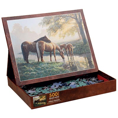 Spring Morning Horses Jigsaw Puzzle