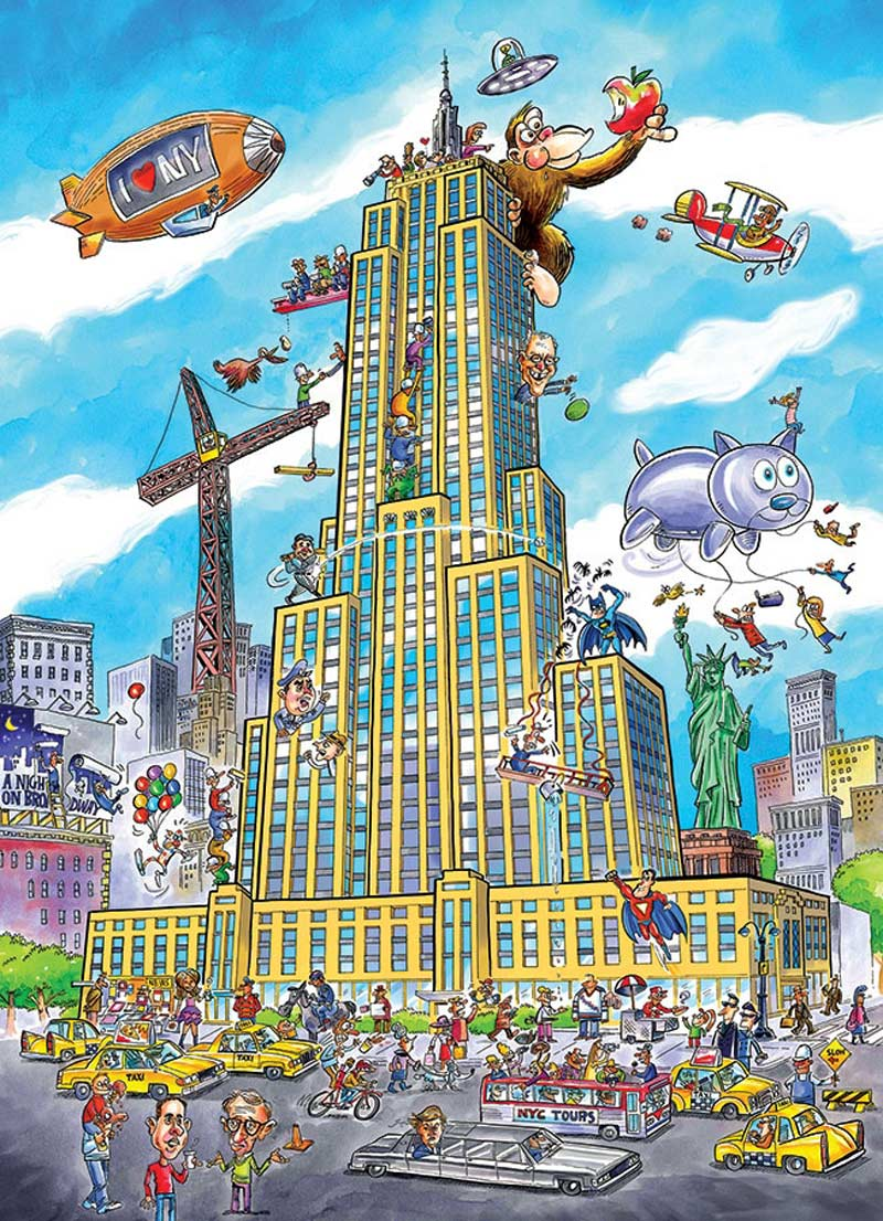 Empire State Cartoons Jigsaw Puzzle