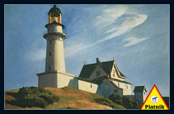 Lighthouse at Two Lights, 1929 - Scratch and Dent Lighthouses Jigsaw Puzzle