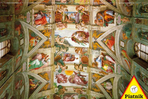 The Ceiling of the Sistine Chapel Churches Jigsaw Puzzle