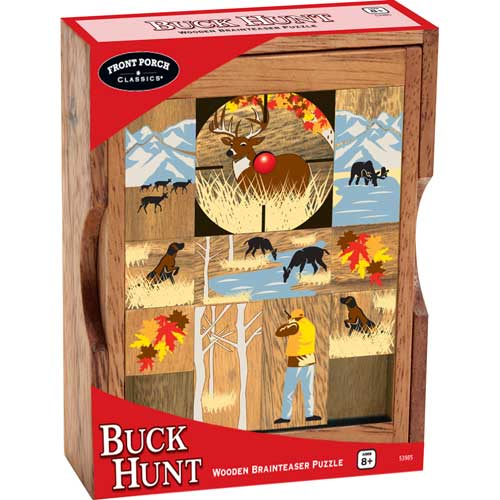 Wooden Brain Teaser - Buck Hunt Wildlife Brain Teaser