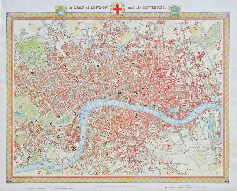 London Map 1831 - Scratch and Dent Maps / Geography Jigsaw Puzzle