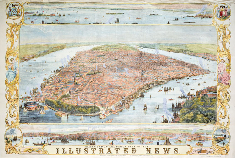 New York Map 1853 Maps / Geography Jigsaw Puzzle