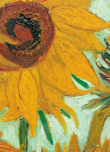 Twelve Sunflowers (Detail) Flowers Jigsaw Puzzle