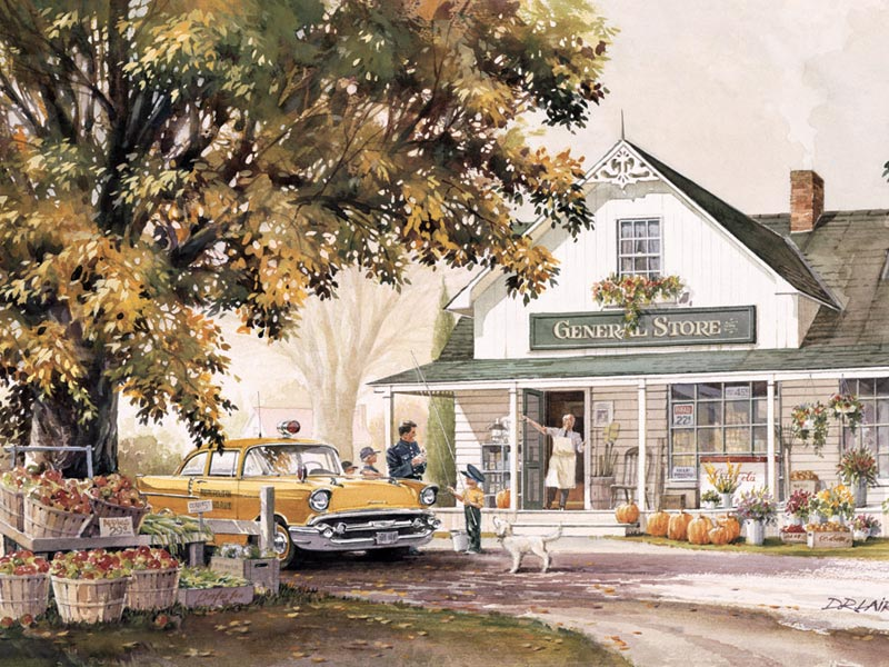 General Store Fall Children's Puzzles