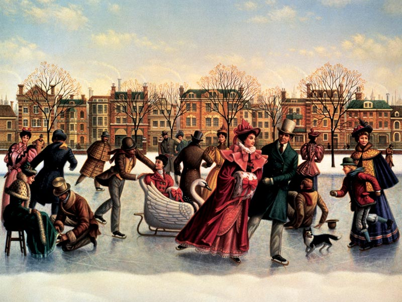 Skating Party People Jigsaw Puzzle