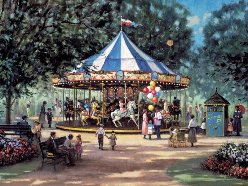 Carousel Ride Carnival Children's Puzzles