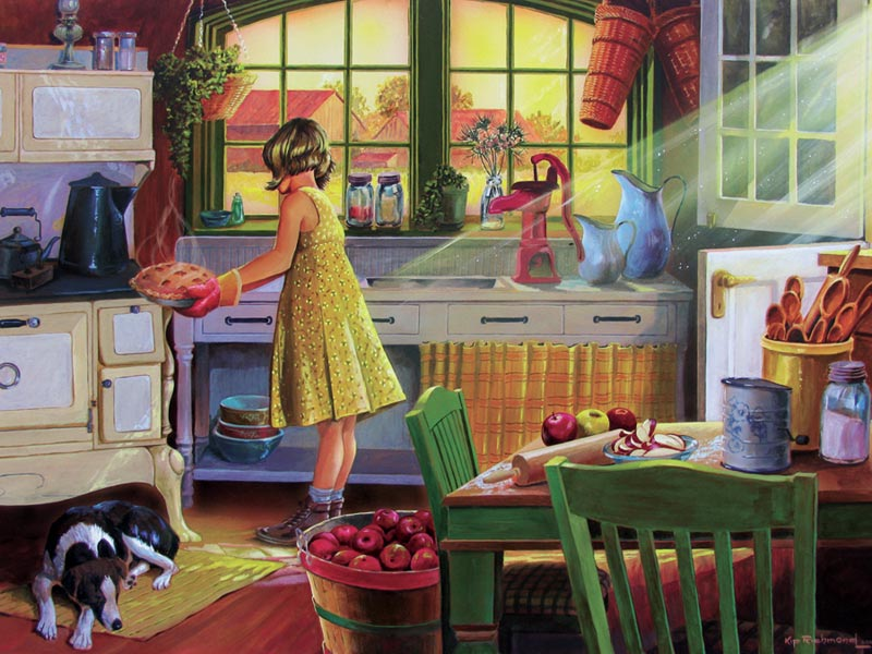 Apple Pie Kitchen Nostalgic / Retro Jigsaw Puzzle