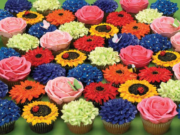 Cupcake Garden Food and Drink Jigsaw Puzzle