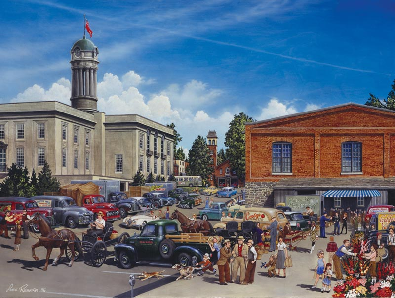 Farmers' Market Americana & Folk Art Jigsaw Puzzle