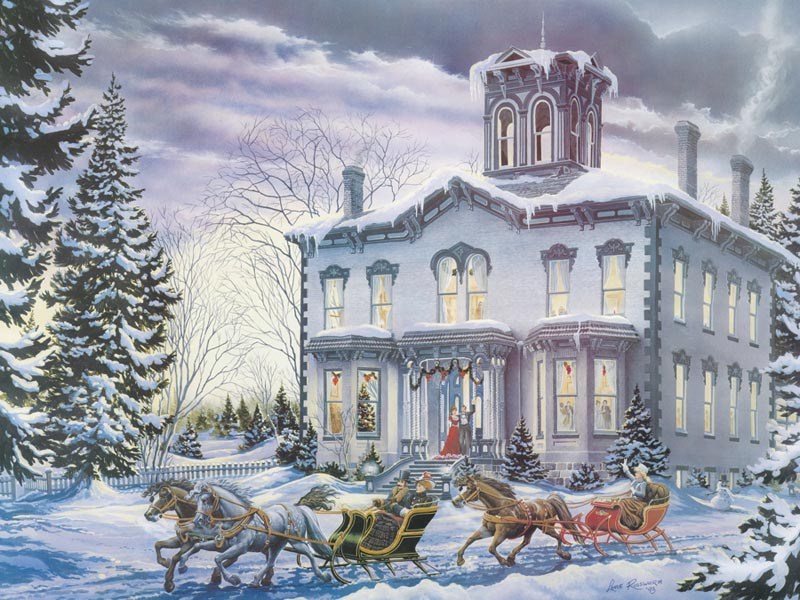 Christmas at Kilbride - Scratch and Dent Canada Jigsaw Puzzle