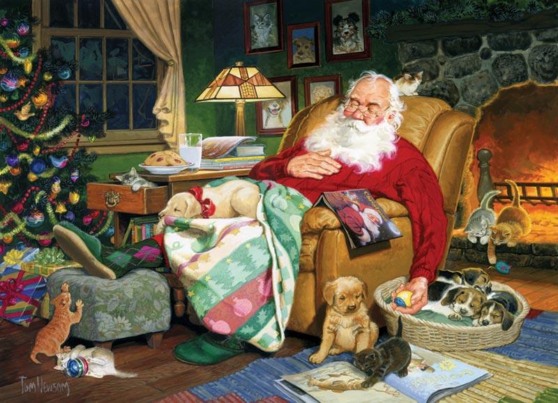 Santa's Nap Time Christmas Jigsaw Puzzle