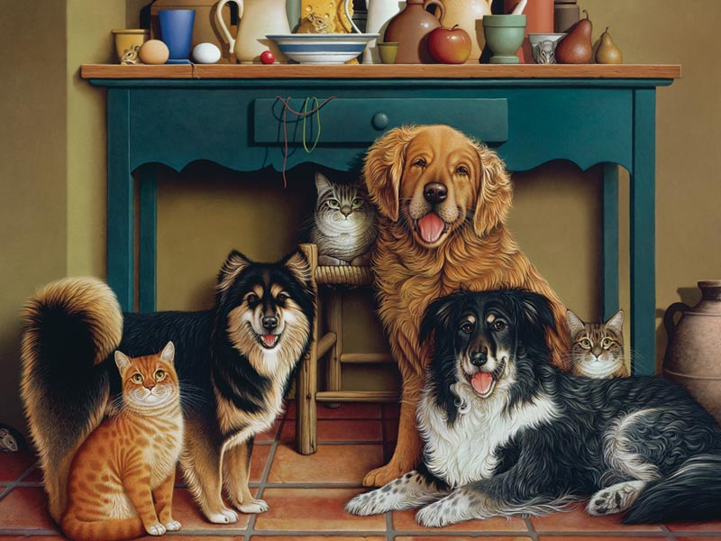 Family Portrait Cats Jigsaw Puzzle