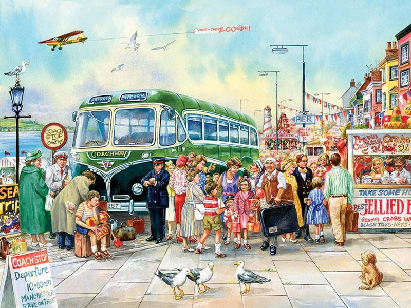 British Pier People Jigsaw Puzzle