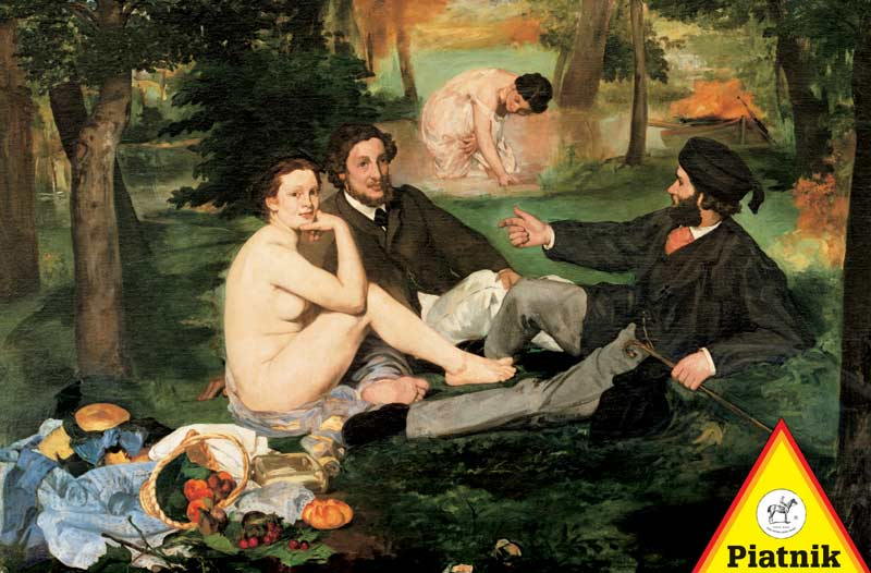 Manet - Lunch in the Park Fine Art Jigsaw Puzzle