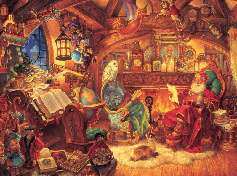 St. Nicholas in His Study Christmas Jigsaw Puzzle