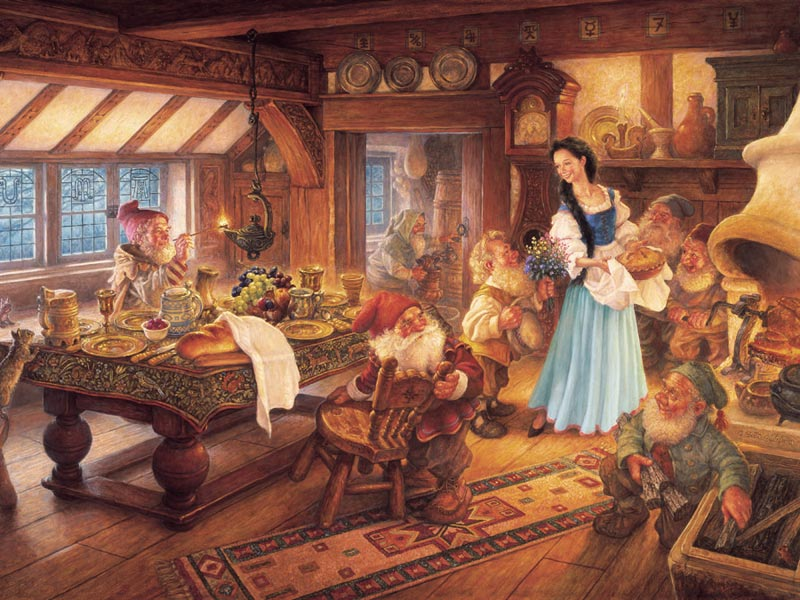 Snow White and The Seven Dwarves Mother's Day Family Puzzle