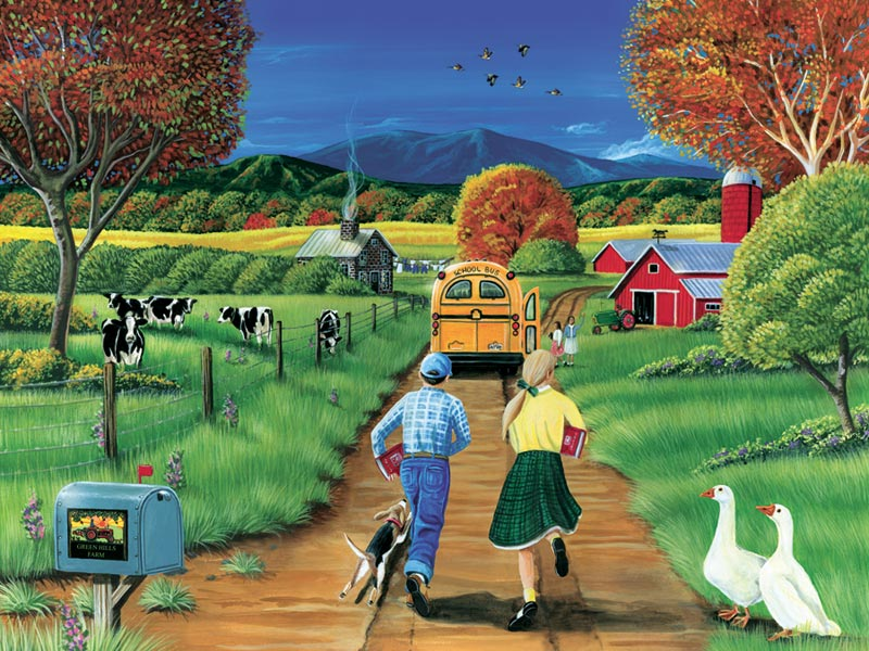 Late for the Bus Countryside Children's Puzzles