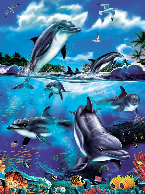 Dolphin Family Dolphins Children's Puzzles