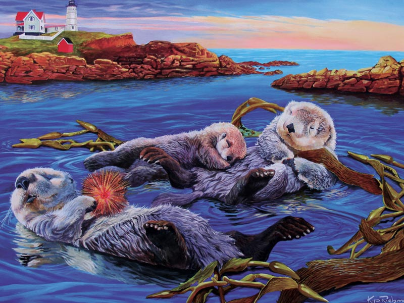 Sea Otter Family Lakes / Rivers / Streams Children's Puzzles