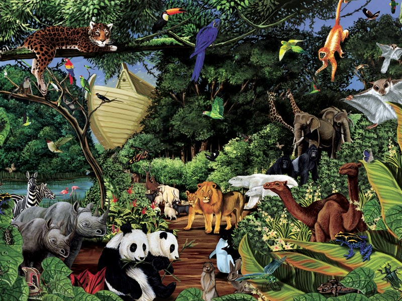 Noah's Gathering Bears Children's Puzzles