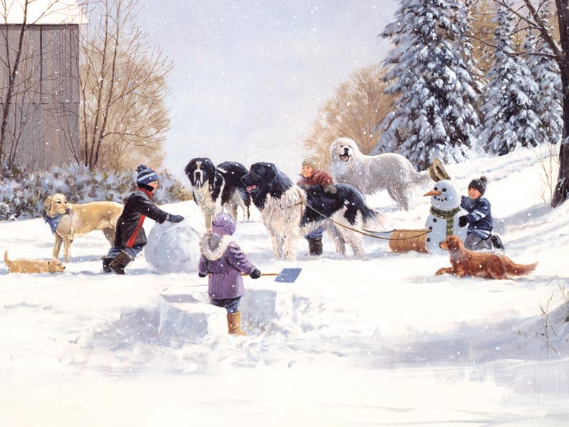 Doggone Winter Dogs Children's Puzzles