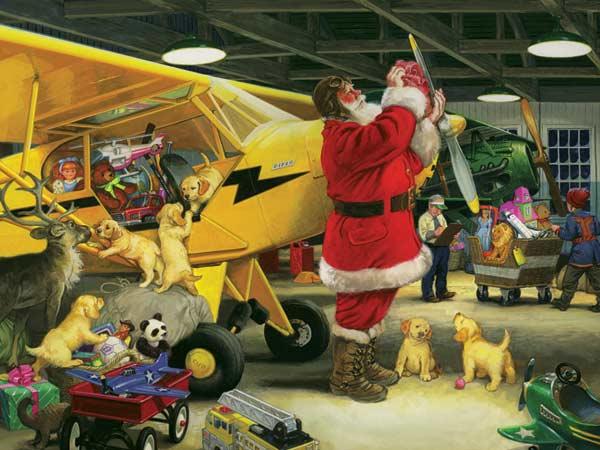 Santa's Hangar Christmas Children's Puzzles
