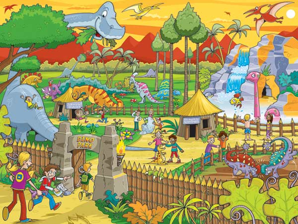 Find the Difference - Dino Park Cartoons Children's Puzzles