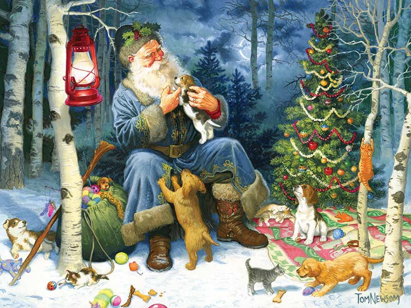 Old World Santa - Scratch and Dent Dogs Jigsaw Puzzle