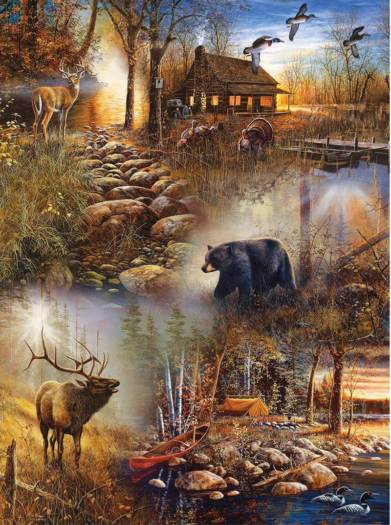 Forest Collage Birds Jigsaw Puzzle
