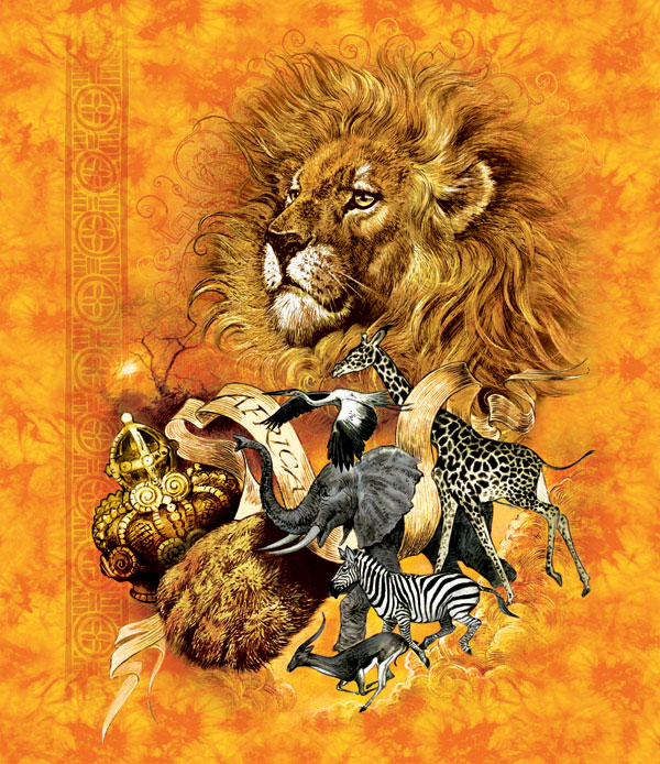 African Animal Kingdom Jungle Animals Jigsaw Puzzle
