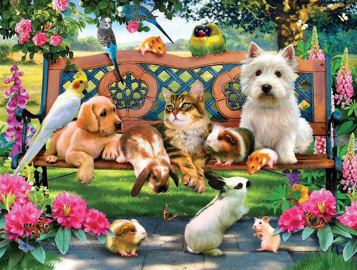 Pets in the Park Cats Jigsaw Puzzle