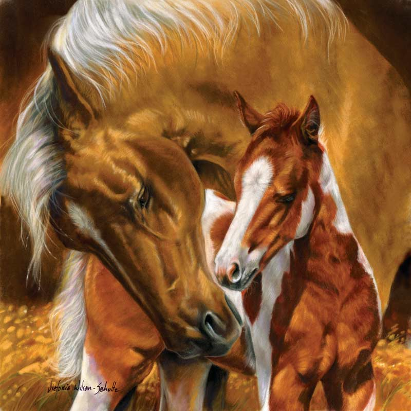 A Mother's Touch Horses Jigsaw Puzzle