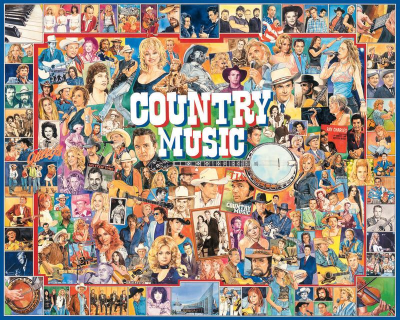Country Music Collage Jigsaw Puzzle