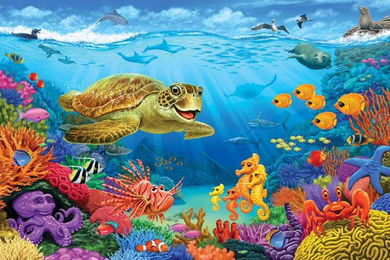 Ocean Reef - Scratch and Dent Under The Sea Jigsaw Puzzle