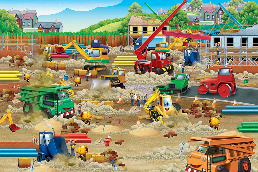 Construction Zone Vehicles Jigsaw Puzzle