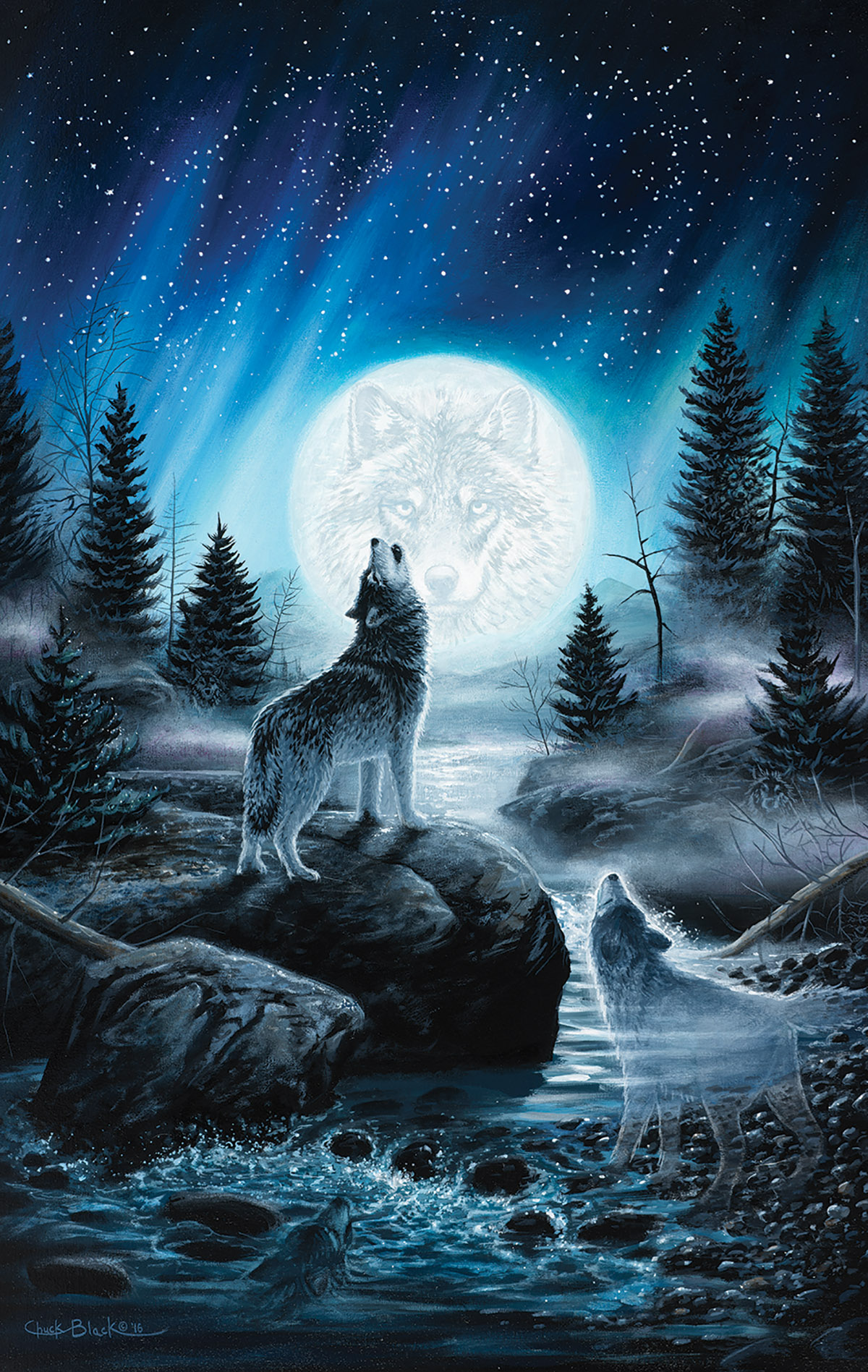 Call of the Pack - Scratch and Dent Wolves Jigsaw Puzzle