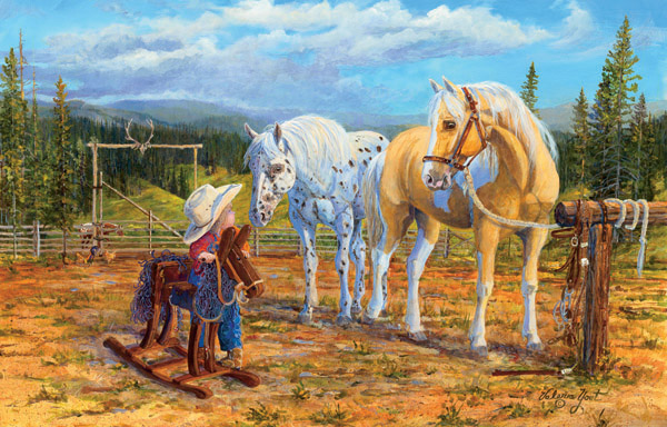 Lets Go Horses Jigsaw Puzzle