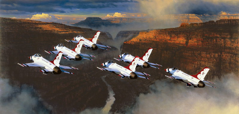Thunder in the Canyon Grand Canyon Jigsaw Puzzle
