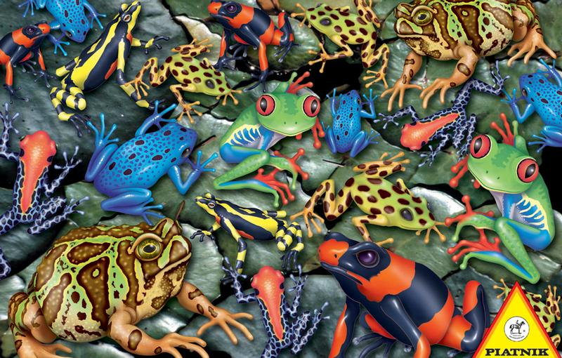 Big Frogs Reptiles and Amphibians Jigsaw Puzzle