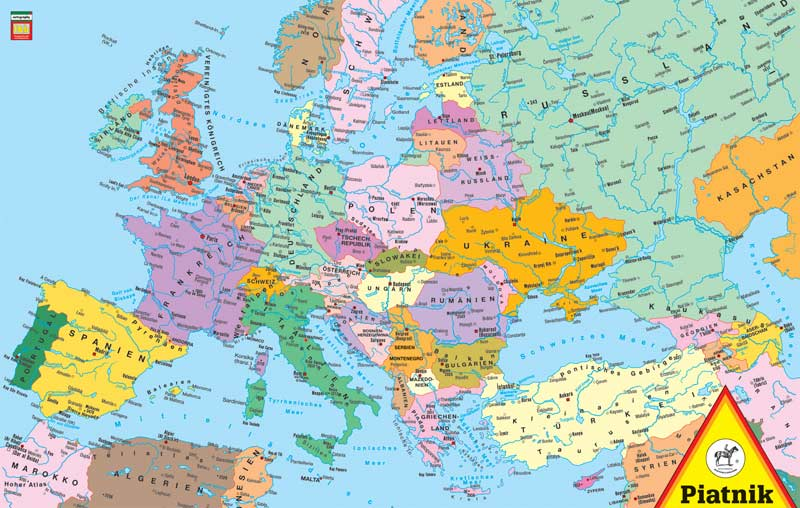 Map of Europe Maps Jigsaw Puzzle