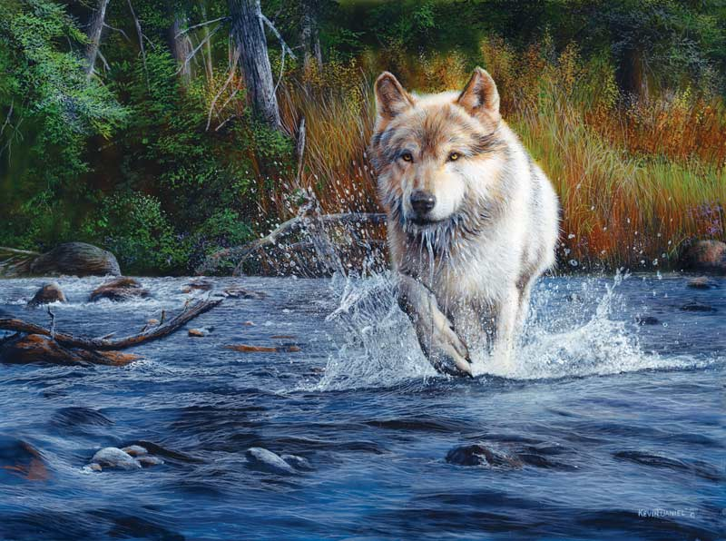 Wolf Crossing Forest Jigsaw Puzzle