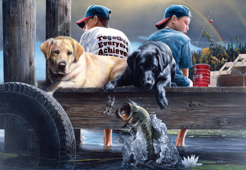 Who's Fishing? Dogs Jigsaw Puzzle